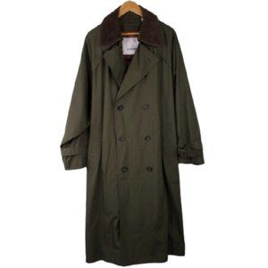London Fog Trench Coat Classic Military Style